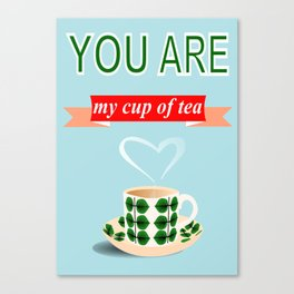 retro tea cup stig lindberg you are my cup of tea wedding gift  Canvas Print