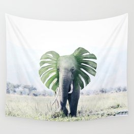 Monstera Elephant Wall Tapestry