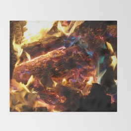 Colorful FirE Throw Blanket