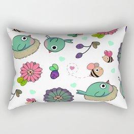 Birbs and Bees Rectangular Pillow