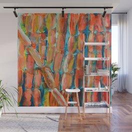 Coral Night of Sugarcane Wall Mural