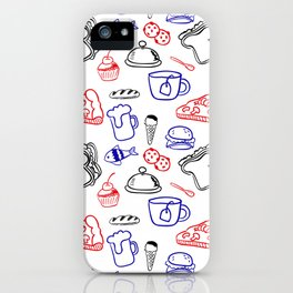 Food Hand draw pattern iPhone Case