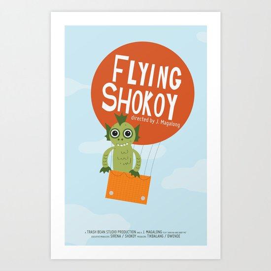 Flying Shokoy (Philippine Mythological Creatures Series #4) Art Print