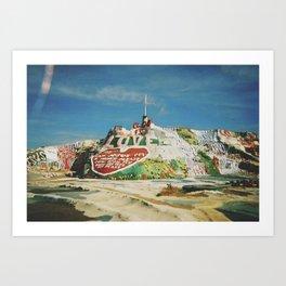 SALVATION MOUNTAIN  Art Print