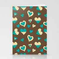 baloon Stationery Cards featuring Baloon Heart by GrapeDiva