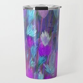 Field of Flowers in Purple, Blue and Pink Travel Mug