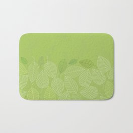 LEAVES ENSEMBLE GREENERY Bath Mat