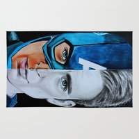 steve rogers Area & Throw Rugs featuring Steve Rogers by Goolpia