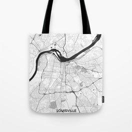 Louisville Map Gray Tote Bag