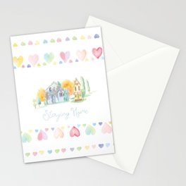 Little Houses: Staying Home Stationery Cards