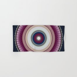 Decorative Wine Dark Blue Mandala Hand & Bath Towel