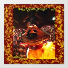 Chris the reindeer... Canvas Print