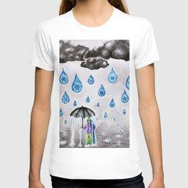 Raining Snow by Ama Hartman  T-shirt