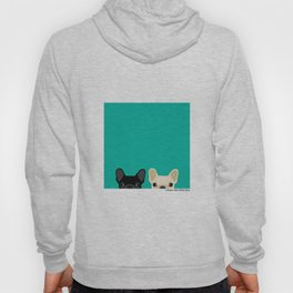 2 French Bulldogs Hoody