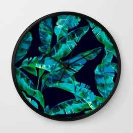 Tropical addiction - midnight grunge Wall Clock