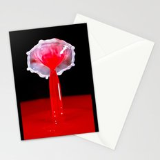 Milk in Red Water Stationery Cards