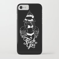 fuck you iPhone & iPod Cases featuring Fuck You by House of Phidias