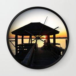 Norwalk, Sheffield Island, Sunset, Connecticut Wall Clock