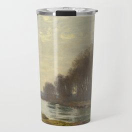 The Petite Bras of the Seine at Argenteuil by Claude Monet Travel Mug