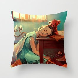 When she was six Throw Pillow