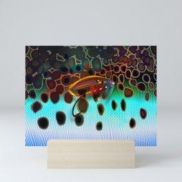 Rainbow & Salmon Fly Camo Mini Art Print
