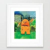jackalope Framed Art Prints featuring Jackalope by Michael Scott Murphy