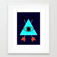 illuminati Framed Art Prints featuring Illuminati by Lucas de Souza