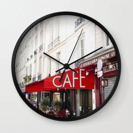 Cafe in Paris Wall Clock