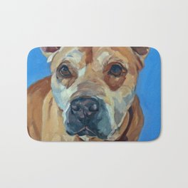Happy the Bully Dog Portrait Bath Mat