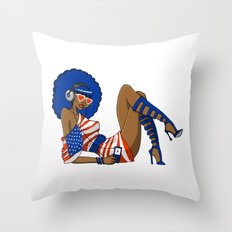 Funky 4th Throw Pillow
