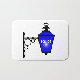 Police Station Blue Light Bath Mat