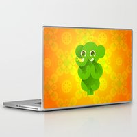 ganesha Laptop & iPad Skins featuring Ganesha by Plushedelica