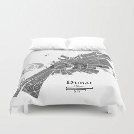 Dubai Map Duvet Cover
