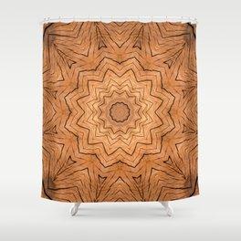 Wooden star ring kaleidoscope Shower Curtain