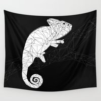 chameleon Wall Tapestries featuring CHAMELEON by ARCHIGRAF