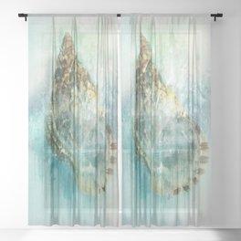 Shell Splash Sheer Curtain