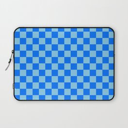 Baby Blue and Brandeis Blue Checkerboard Laptop Sleeve