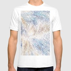 Nature Flow White Mens Fitted Tee MEDIUM