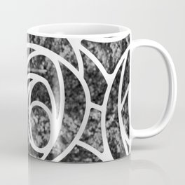 Abstract Rose in Black and White Coffee Mug