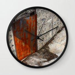 Abandoned Theatre - Red Door Wall Clock