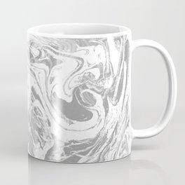 Suminagashi japanese spilled ink grey watercolor painting minimalist abstract marble marbling Coffee Mug