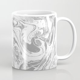 Suminagashi japanese spilled ink grey watercolor painting minimalist abstract marble marbling Coffee Mug