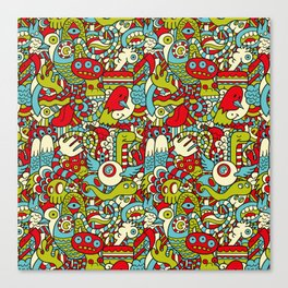 Monsters Party Canvas Print