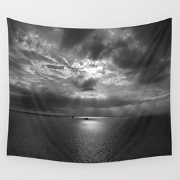 Cloudscape in black and white Wall Tapestry