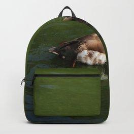 Redhead On A Lake Backpack