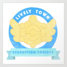 Lively Town Expedition Society Art Print