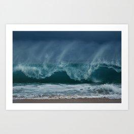 Crashing Waves Art Print