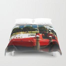 Little red tug Boat Duvet Cover