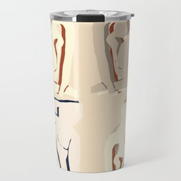 Matisse beige curves cut outs exhibition poster Travel Mug