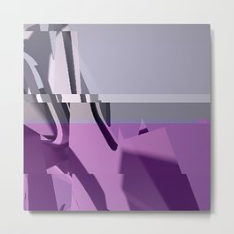 Abstract Glitch 01 Metal Print